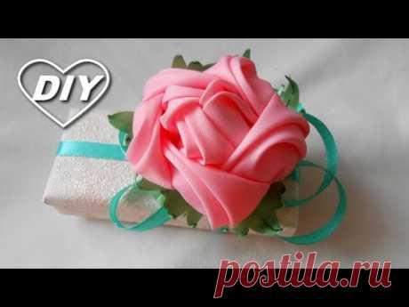 Роза из ленты. Вы так еще не делали МК/ Amazing Ribbon Rose DIY /Rosa da fita РАР/Rosa de la cinta