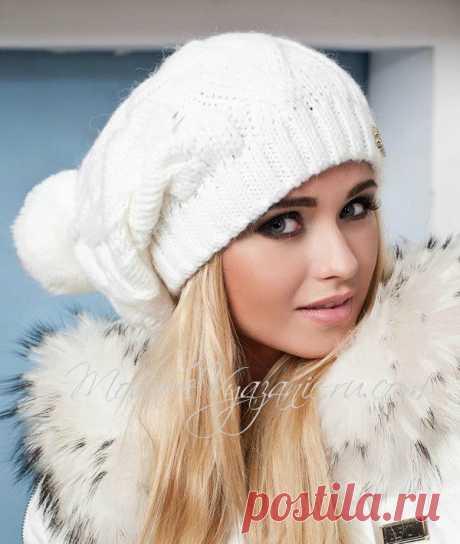 Как связать модную шапку бини спицами - Modnoe Vyazanie ru.com