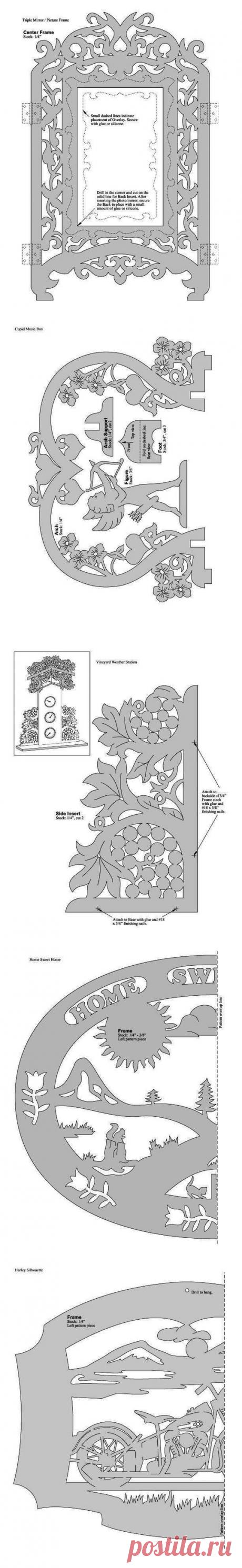 Шаблоны для выпиливания. Great American Scrollsaw Patterns