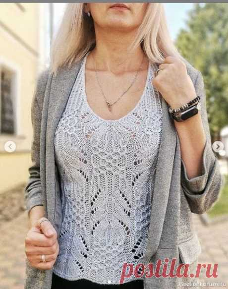 ЛЕТНИЙ ТОП СПИЦАМИ С ЯПОНСКИМ УЗОРОМ ОТ INNAYARASHEVICH | Вязание для женщин спицами. Схемы вязания спицами