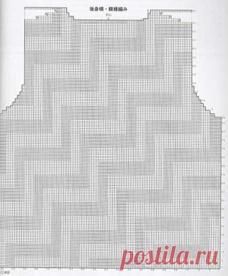Топ с геометрическим узором спицами