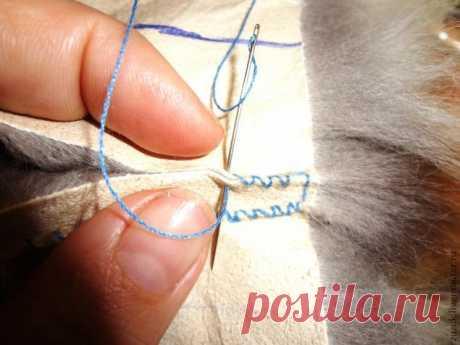 Основной шов скорняка для шитья меха | Журнал Ярмарки Мастеров