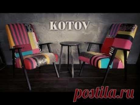 Реставрация старой мебели - кресла в стиле пэчворк   МАСТЕР-КЛАССЫ   Пэчворк • Квилтинг • Лоскутное шитье   Пэчворк • идеи