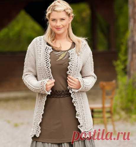 Зимняя грация: очаровательные кофта, пуловер и свитер.