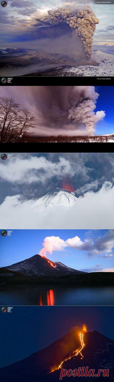 Чилийские вулканы с высоты птичьего полета : НОВОСТИ В ФОТОГРАФИЯХ