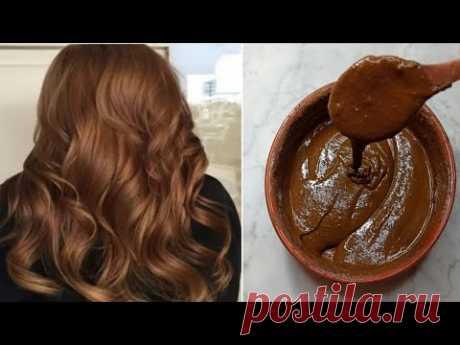 Натуральная каштановая краска для волос, скрывающая седину от первого использования, увлажнение