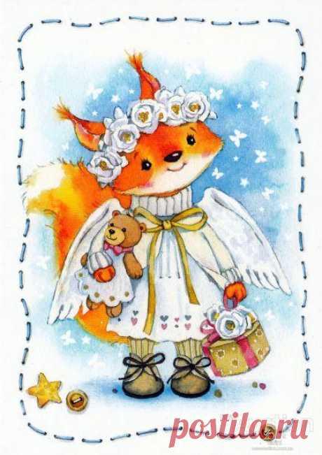 """Современные открытки -""""Новогоднее"""" - Чистотина Евгения"""
