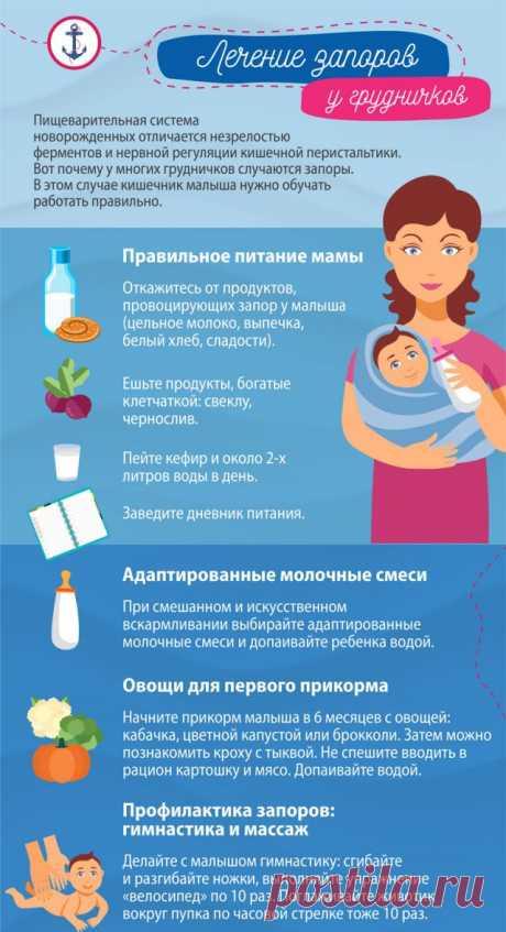 Запор у грудничка при грудном вскармливании: причины и лечение