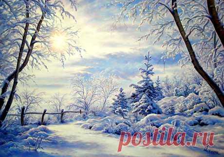 Зима в работах художников. Капырин Сергей