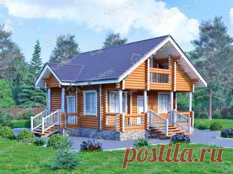 Простой проект дома с мансардой 92 кв м!