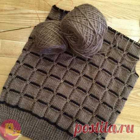 Очень красивый узор для свитера или кардигана или уютного пледа — Сделай сам, идеи для творчества - DIY Ideas