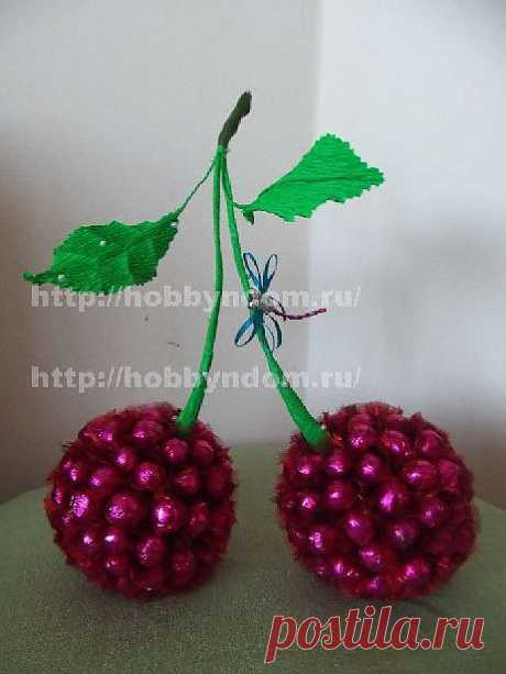 """Bouquet from candies\"""" CHERRY\""""."""