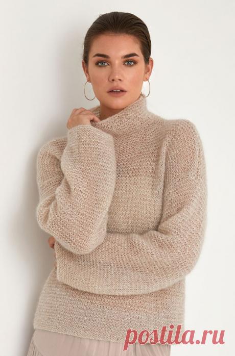Вязаный свитер Beige  | ДОМОСЕДКА