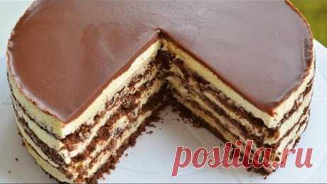 Обалденный торт ШОКОЛАДНЫЙ ПЛОМБИР!!!БЕЗ ДУХОВКИ и ВЫПЕЧКИ. Просто ТАЕТ во рту!