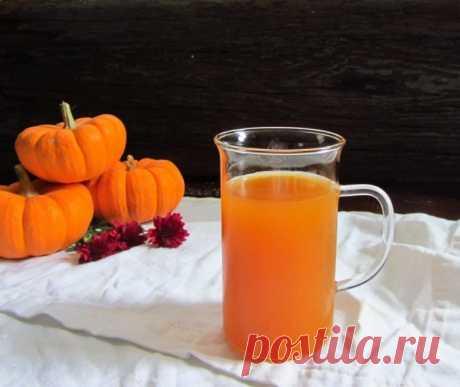 Тыквенный сок с апельсином на зиму / Простые рецепты
