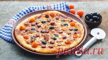 Простая пицца, пошаговый рецепт с фото