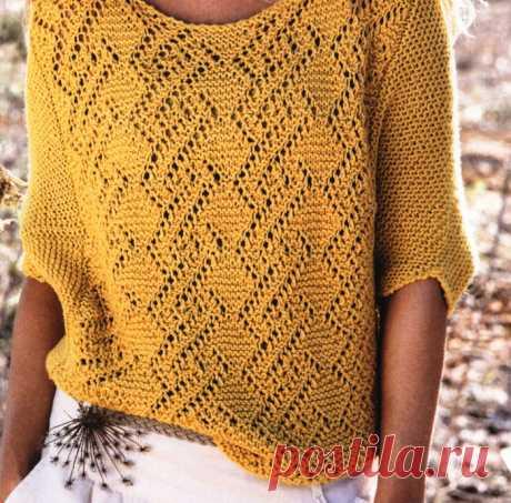 пуловер - кокон