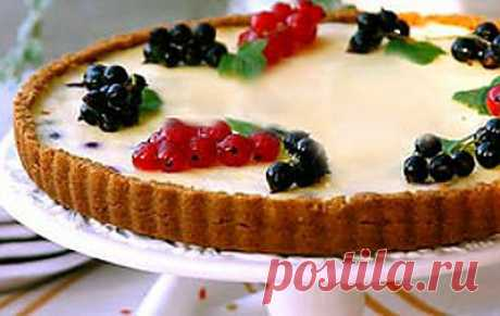 Творожно-ягодный торт