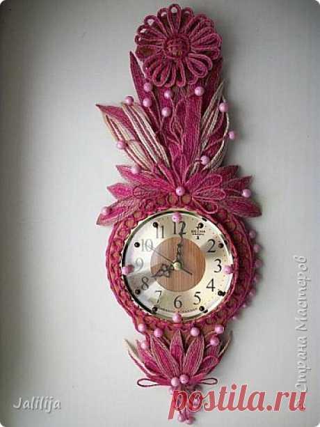 Декорирование настенных часов с помощью джутовой верёвки. (3) | Страна Мастеров