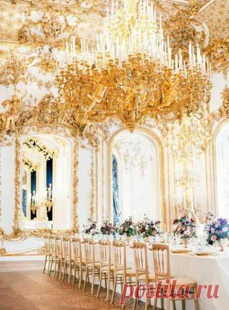 Свадьба в золотом цвете - так благородно и роскошно!