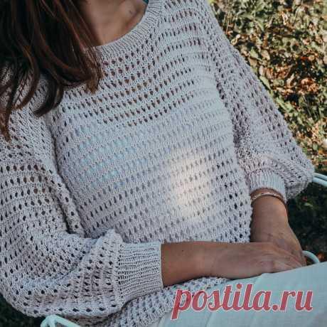 Ажурный пуловер спицами Sorbetto - Вяжи.ру