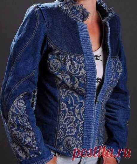¡Dzhins, dzhins, dzhins! ¡Las ideas y la decoración de jeans одежды+Творения!.