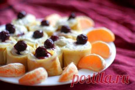 Блины с вишней и творогом - Рецепты. Кулинарные рецепты блюд с фото - рецепты салатов, первые и вторые блюда, рецепты выпечки, десерты и закуски - IVONA - bigmir)net - IVONA bigmir)net