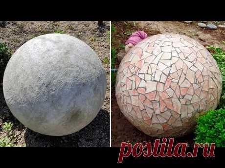 Как сделать декоративные шары для сада. Поделки для сада и дачи