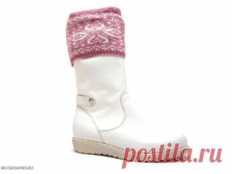 Сапожки школьные Неман 62085, белый - детская обувь, обувь для девочек, сапоги. Купить обувь Неман