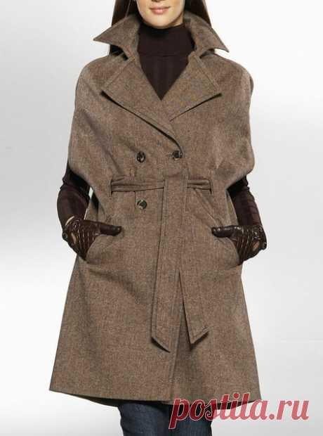 Пальто с короткими рукавами - для вдохновения. Подборка фото Шитье | простые выкройки | простые вещи #простыевыкройки #простыевещи #шитье #пальто #длявдохновения