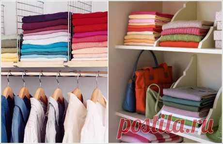 Хитрости сохранения аккуратных стопок вещей в шкафах