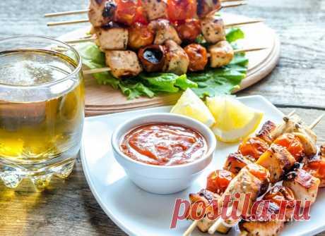 Вкусный шашлык из курицы в меду (куриный шашлык) - Антрекот - большая кулинарная книга рецептов