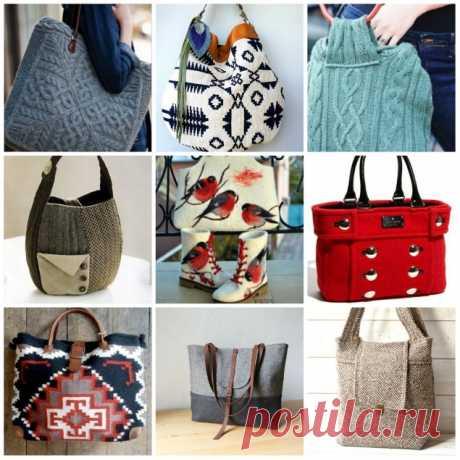 Зимние сумки: идеи для тех, кто любит рукодельные вещи