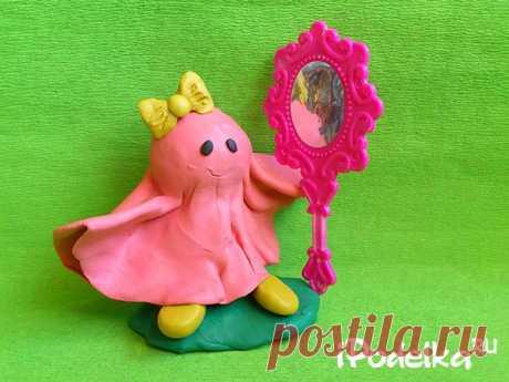 Розовое привидение из пластилина своими руками: как сделать пошагово с фото