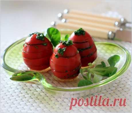Los tomates poco salados en 30 minutos | la cocina Rusa