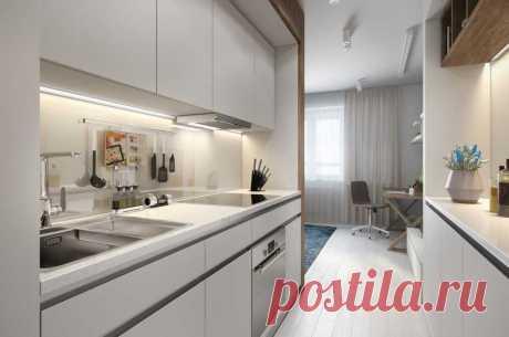 El apartamento claro por el área 30 de los metros cuadrados