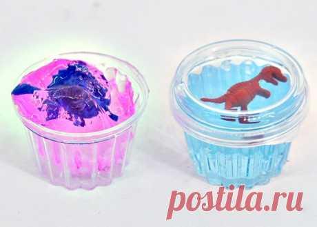 Жидкий лизун в банке с динозавриками оптом в розничные детские магазины