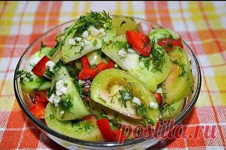 Como marinar los tomates verdes para el invierno