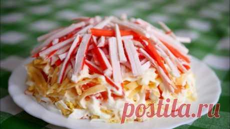 Наслаждение вкусом: слоеный салат скрабовыми палочками Пошаговые рецепты приготовления слоеных салатов с крабовыми палочками. Лучшие рецепты а так же информация как и сколько хранить салаты с майонезом