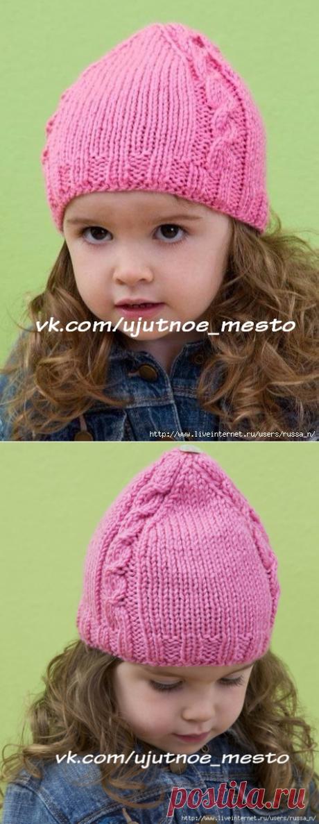 Children's cap spokes from RED HEART.