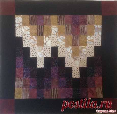 Block — a Lesson joint project, Lesson No. 3, Barzhello - Scrappy Sewing - the Country of Mothers