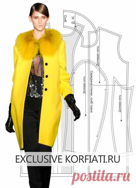 Pattern of a direct coat from Anastasia Korfiati