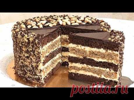 """Мой простой, домашний торт """" Ореховое наслаждение""""/My homemade nut delight cake"""