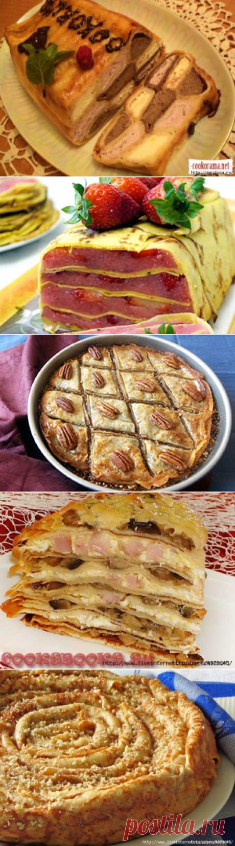 Блинные торты и пироги с разными начинками- огромная подборка к праздникам
