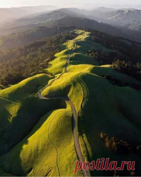 Дорога на холмах, Шотландия