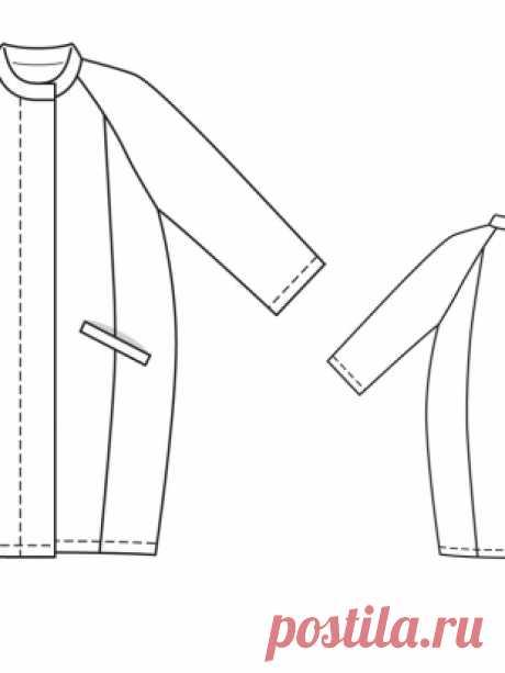 Пальто о-силуэта - выкройка № 130 из журнала 4/2014 Burda – выкройки пальто на Burdastyle.ru