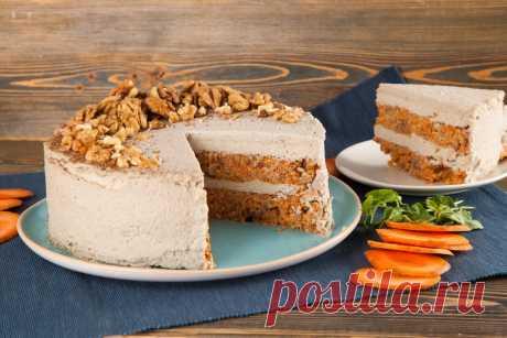 Морковный торт без выпечки, в котором нет сахара, муки и яиц | Рецепты от ВкусВилл | Яндекс Дзен