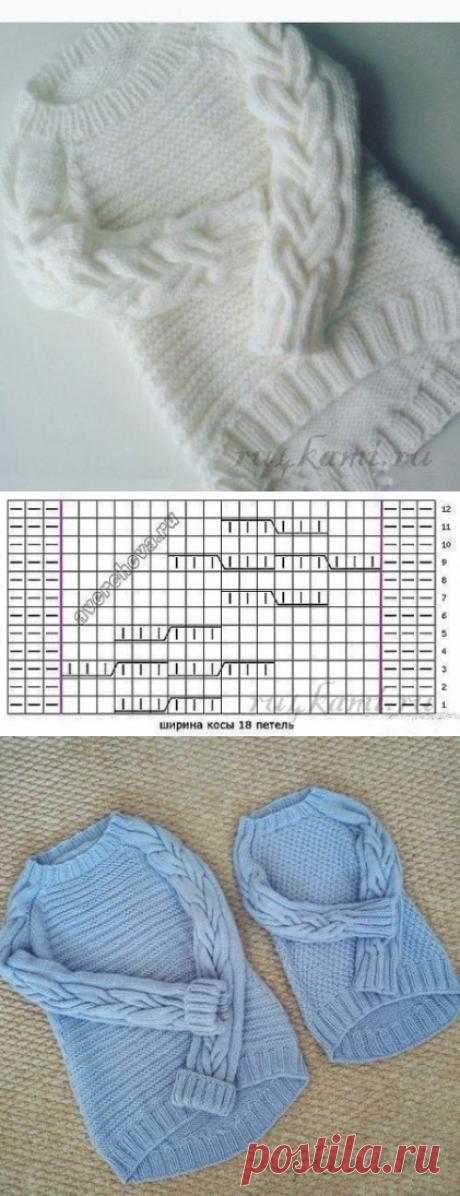 """Красивый пуловер спицами » Сайт """"Ручками"""" - делаем вещи своими руками"""