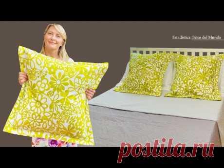Обновите подушку за 10 минут / Самый простой чехол в мире