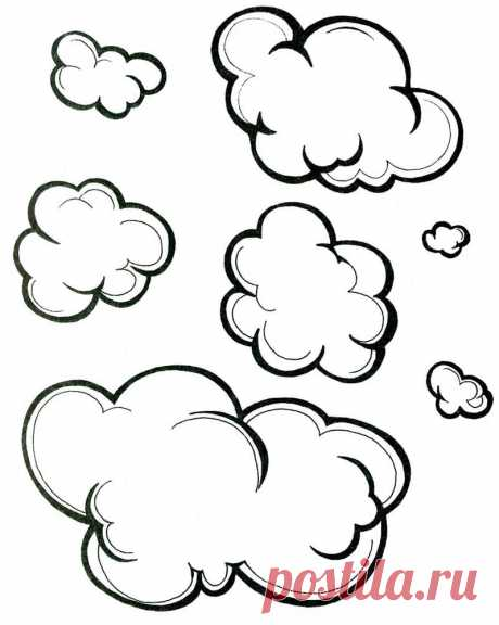 Cloud coloring pages for toddlers free printable download